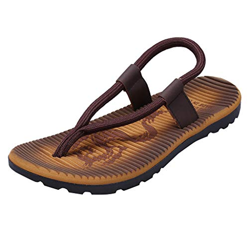 Sandalen Herren Zehentrenner Mode Hausschuhe Casual Freizeitschuhe Böhmen Flip Flops Strand Sandalen Outdoor Skid Schuhe Kreuzband Geflochtene Sandalen