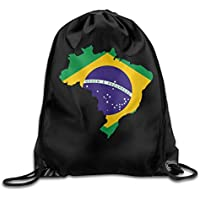 2f5b3b0f62 KCOUU Brasile bandiera mappa dello zaino Drawstring Beam bocca palestra sacco  borse a tracolla per uomo