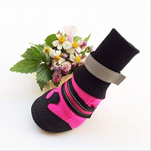LAIFU heimtierbedarf schoßhund Schuhe Schuh umfasst für große Hunde Outdoor - weiche Schuhe,pink