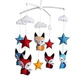 [Füchse und Sterne] Neugeborenes Kind Krippe Mobile, Hängen bunte Dekor-Geschenk