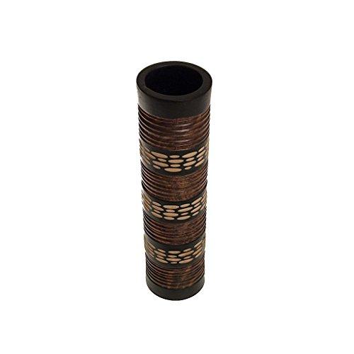 ROMBOL Vase, Holzvase, Höhe 43,5 cm, Designvase, Deko, Dekoration, Dekovase, Holz, Braun/Schwarz