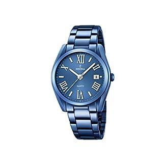 Festina F16864/3 – Reloj de Pulsera analógico para Hombre (Mecanismo de Cuarzo, Esfera Azul y Correa chapada en Acero Inoxidable Azul)