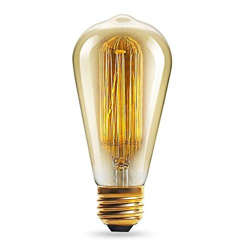 lbbdb Vintage Glühbirne RETRO altmodisch Edison Stil E27Schraube Leuchtmittel ST64Glühlampe 220V–Eichhörnchen Käfig Filament 4w (4 Light-anhänger Käfig)