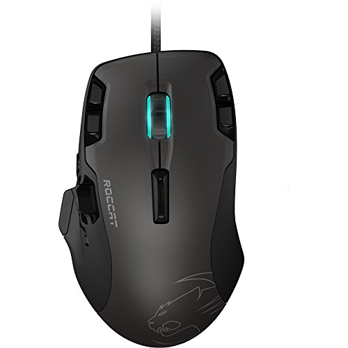 Roccat Tyon All Action Multi-Button Gaming Laser-Maus (8200dpi, 14-Tasten, USB) grau/schwarz - 3