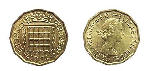 Coins pour les collectionneurs - FDC 1964 British Three Pence / quat'sous Bit Coin / Grande-Bretagne