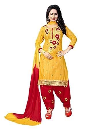 Crazy Pure Cotton Patiala Salwar Suits for women Unstitched Party Wear
