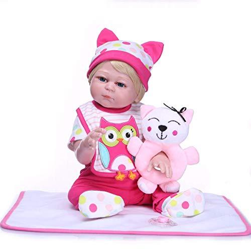 TERABITHIA 20-Zoll-lebensechte volle Silikon Vinyl Wiedergeboren Neugeborene Mädchen Puppen waschbar kleine Eule Baby Puppe magnetischen Mund mit Dummy Kindergeburtstag