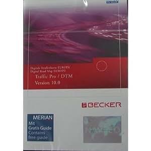 Becker Traffic Pro Logiciel de cartes CD-ROM pour GPS (Version 10.0, pour l'Europe)
