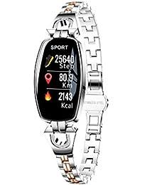 Fitness Armband Mit Pulsmesser, Muamaly Fitness Tracker Blutdruckmessung Wasserdicht Ip67 Farbbildschirm Aktivitätstracker Uhr Smartwatch Pulsuhren Schrittzähler Für Damen Herren (Silber)