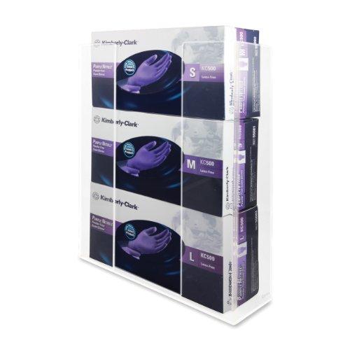 Kantek dispensador de guantes, Single Box capacidad, acrílico transparente, color transparente