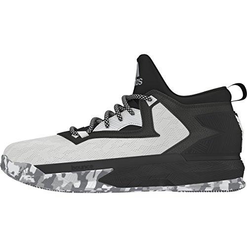 adidas D Lillard 2, Scarpe da Basket Uomo, D(M) US White/Black/Clear Onix