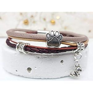 Armband mit Tierpfote und Hundeanhänger