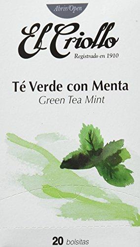 El Criollo Té Verde con Menta Gourmet - 40 bolsitas