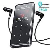 AGPTEK 16Go MP3 Bluetooth 4.0 Bouton Tactile Ecran Couleur, Lecteur Musical en Métal...