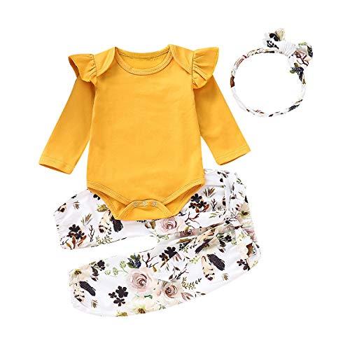 Borlai - Mono - bebé niña Amarillo Amarillo 0-3