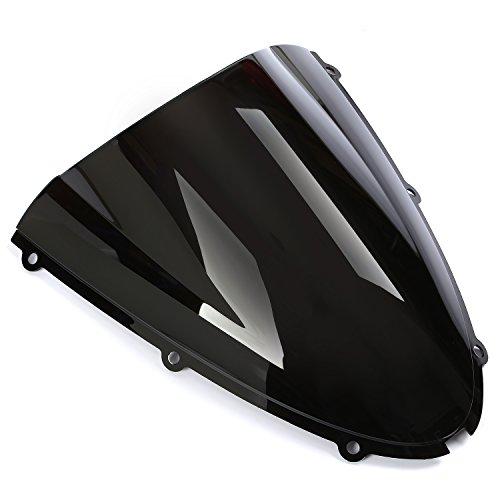 Preisvergleich Produktbild CICMOD Motorrad Scheibe Windscreen für Kawasaki Ninja ZX6R 636 05-08 & ZX10R 2006 2007 (Schwarz)