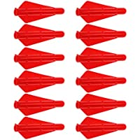 P PRETTYIA 12 Unids Plumas Fletching de Tiro con Archero Multiusos para Deportista Duro - Rojo