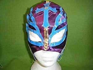 PURPLE REY MYSTERIO WRESTLING MASK FANCY DRESS UP COSTUME