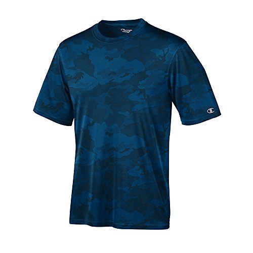 Stag Party, Brown auf American Apparel Fine Jersey Shirt - Navy Blue Camo