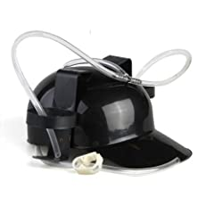 Idea Regalo - Nero Elmetto Cappello Casco Porta Birra Bibite x Party