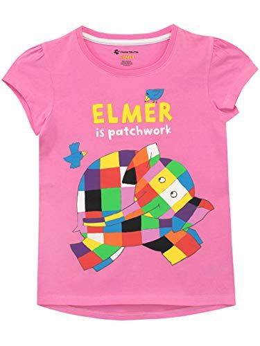 Elmer Camiseta de Manga Corta para niñas Rose 4-5 Años