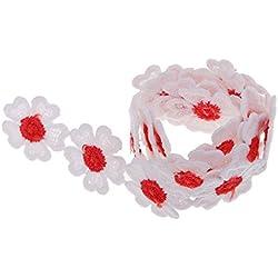 Homyl Satinband Seidenbänder Schleifenband stoffband Geschenkband Weihnachtsband Dekoband für Hochzeit Weihnachten Geschenkverpackung - 4# Rotes Herz, 0,55 Yard
