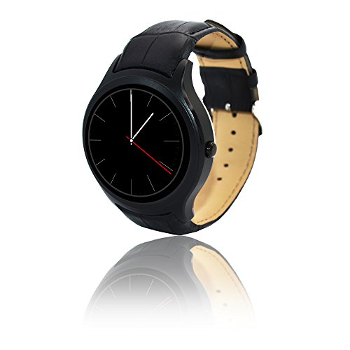 inDigi A6Bluetooth 4.03G Entsperrtes Smartwatch & Handy-Android 4.4OS + Schrittzähler + genau Herz Monitor + WiFi