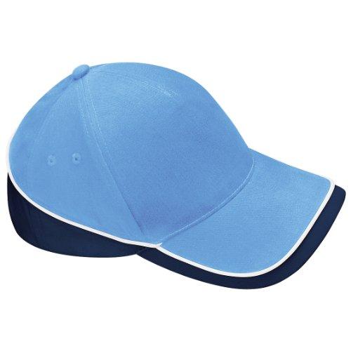 Beechfield Teamwear Competition Cap, verschiedene Farben, - Sky/French Navy/White, one size White French Hut