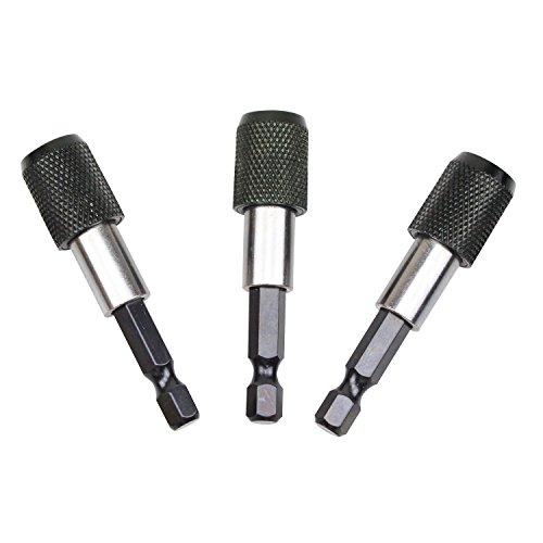 pingranso 1/10,2cm Sechskantschaft magnetisch Verlängerung Chuck Adapter Quick Release Bar Sockel Schraubendreher Bit Halter, Treiber, Bit-Set (3PCS) -