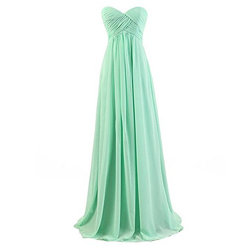 Hqclothingbox - Vestito - Sera - Donna verde Medium