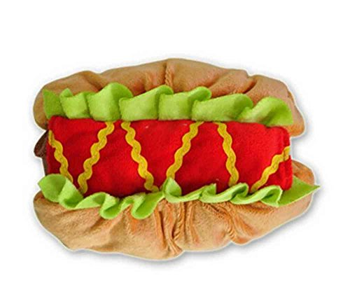Samgu Animale Domestico Cane del Gatto Vestiti Hot Dog Hamburger Decorazione del Partito Halloween Pet Cosplay Color Marrone Chiaro Size X-Large