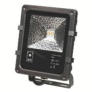 projecteur extérieur à led - 12 watts - 4000k - aric twister - noir