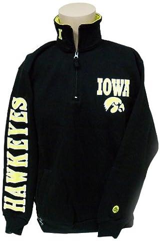 NCAA Iowa Hawkeyes Quarter Zip Sweatshirt, Medium