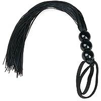 EasyToys Fetish Collection - Látigo SM negro - 32 cm - Hecho de silicona - con empuñadura de mano firme - Bdsms Juguetes para el y ella - Latigos sexuales