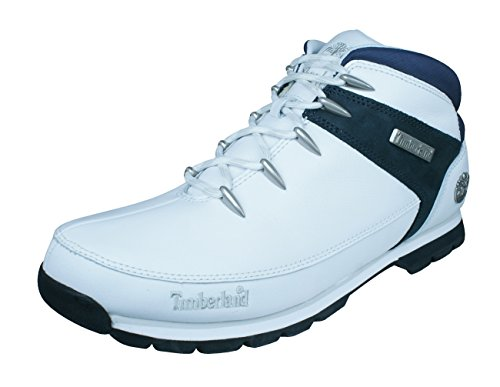 Timberland Euro Sprint Mens Leather Boots-White-12 5