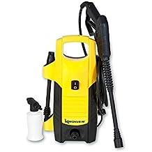 Kruger KH502 - Hidrolimpiadora de agua fría a 105 bar. y 300 litros/hora (1600 W, 230 V), color amarillo