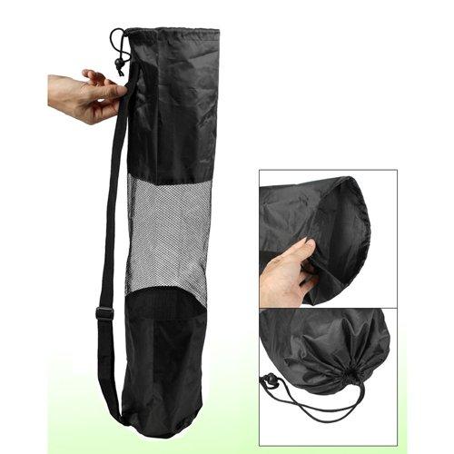 Dcolor Sac de transport pour tapis de yoga Portable Noir Design a claire-voie