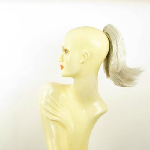 Postiche queue de cheval extension femme blanche courte 28 cm ref 9 en 60