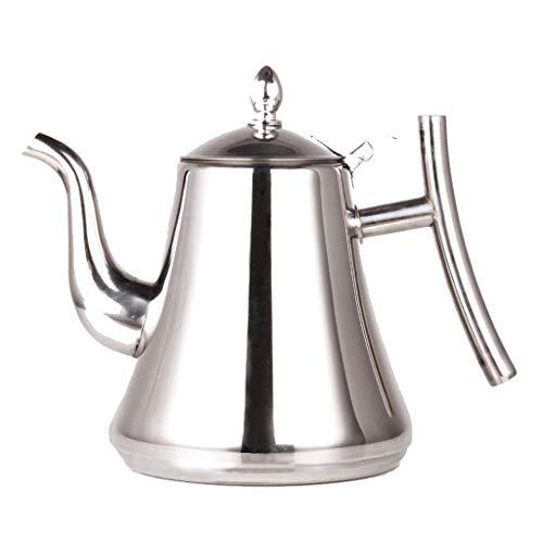 Bouilloire induction Hôtel de théière en acier inoxydable a bouilli le thé hôtel hôtel de fond plat avec la bouilloire Accueil filtre à thé épaississement WHLONG (Size : 1L)
