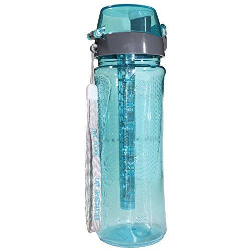 PH Revive botella de agua alcalina ionizador con funda de transporte por agua fortalecida, Natural purificador de agua botella, portátil sistema de filtrado, filtro de larga duración de la alkalizer, aumentar el pH, eliminar metales pesados, cloro y bacterias, sin BPA, 750ml (25G) 750 ml agua