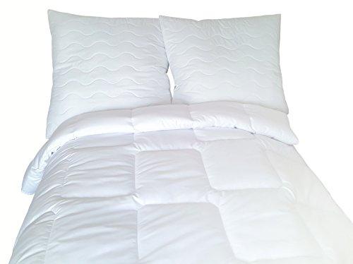 Wendre Allergiker Bettdecke Decke oder Kissen Antibakteriell Steppbett mit Milbenschutz Milbendicht Atmungsaktiv • gegen Hausstauballergie (135x200cm) -