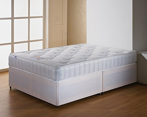 Somnior Beds Classic Divan Bed Base with Mattress, King Size