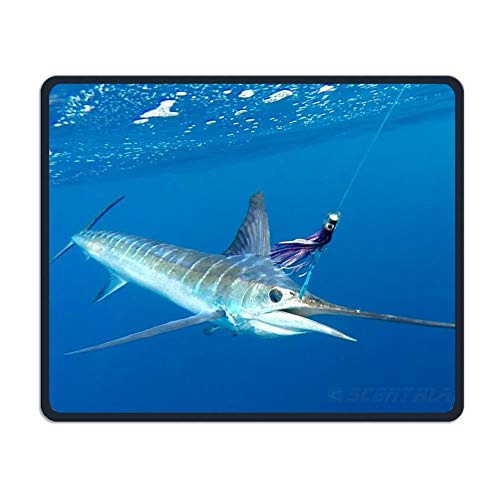 Sea Striped Marlin Fish Office Office and Gaming Mouse Pad Premium Waterproof Mouse Mat 22 * 18CM(8.7 * 7.1 Inch)