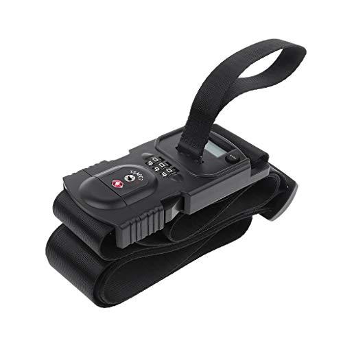 Qiman 3in1 Reisegepäckwaage Code TSA Lock Koffergurt Gürtel Digital Hanging Baggage Weigh Scales