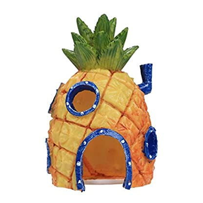 Oyedens Aquarium Ornaments Pineapple House for Fish Tank (Pineapple) 1