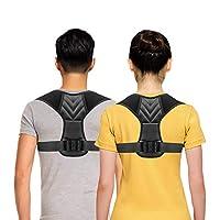 Posture Corrector for Men, Posture Corrector for Women Adjustable Upper Back Brace, Perfect Shoulder Clavicle Support Comfortable & Breathable, Pain Relief From Neck, Back & Shoulder Universal Large