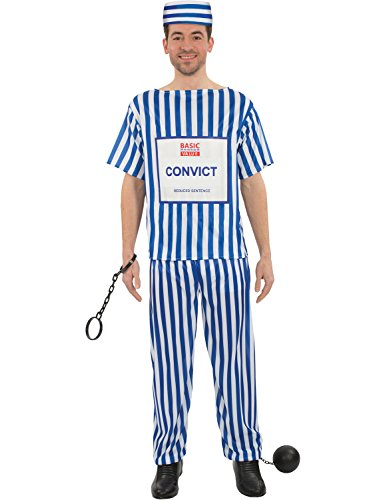 efangenen überführen Billig Party Outfit Kostüm Extra Large (Tesco Fancy Dress Kostüme)