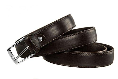 Cintura uomo INTARSI moro in pelle 154 cm taglie forti Made in Italy R5712