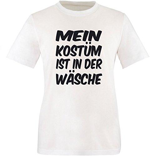 Luckja Mein Kostüm ist in der Wäsche Herren Rundhals T-Shirt Weiß/Schwarz