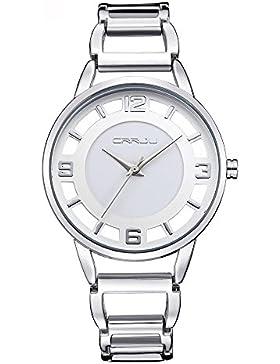 Forepin® Glänzend Uhren Damen Damenuhr mit Datum Kristall Strass Analog Quarz Watches